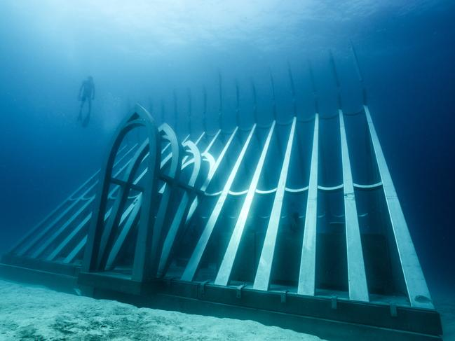 The complete structure weighs more than 58 tonnes. Picture: Jason deCaires