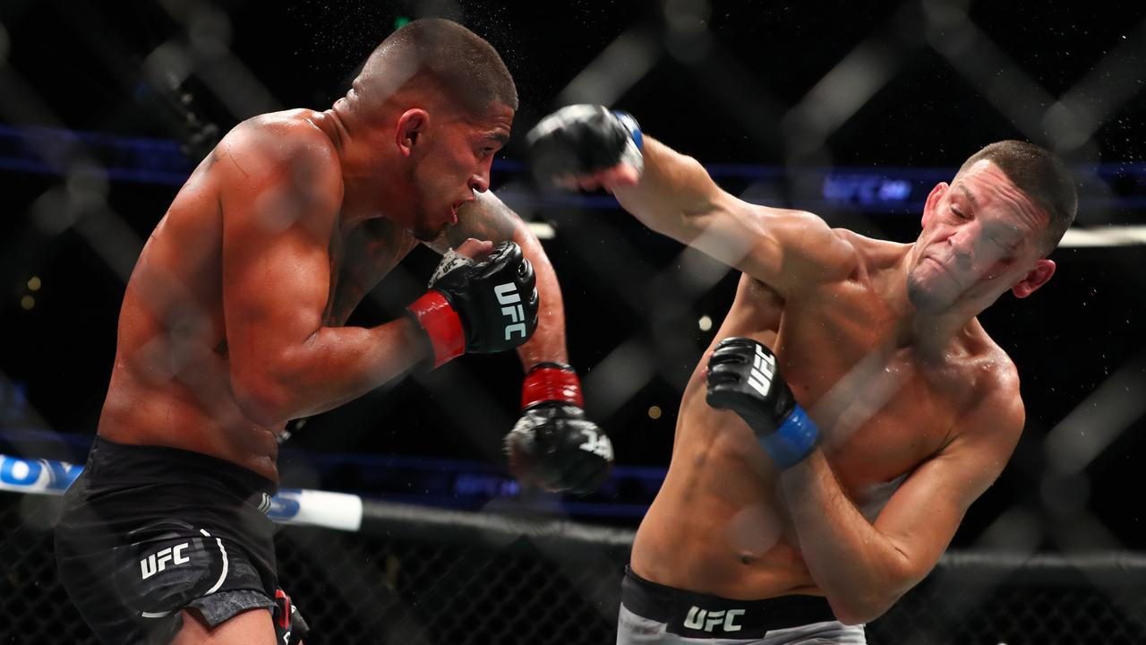 Nate Diaz (right) hasn't got an undefeated record, but he does have star power. Picture: Getty Images
