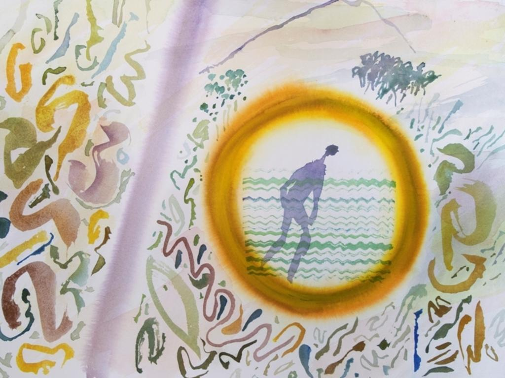 Guy Warren watercolour Forest Pool. Picture: Supplied