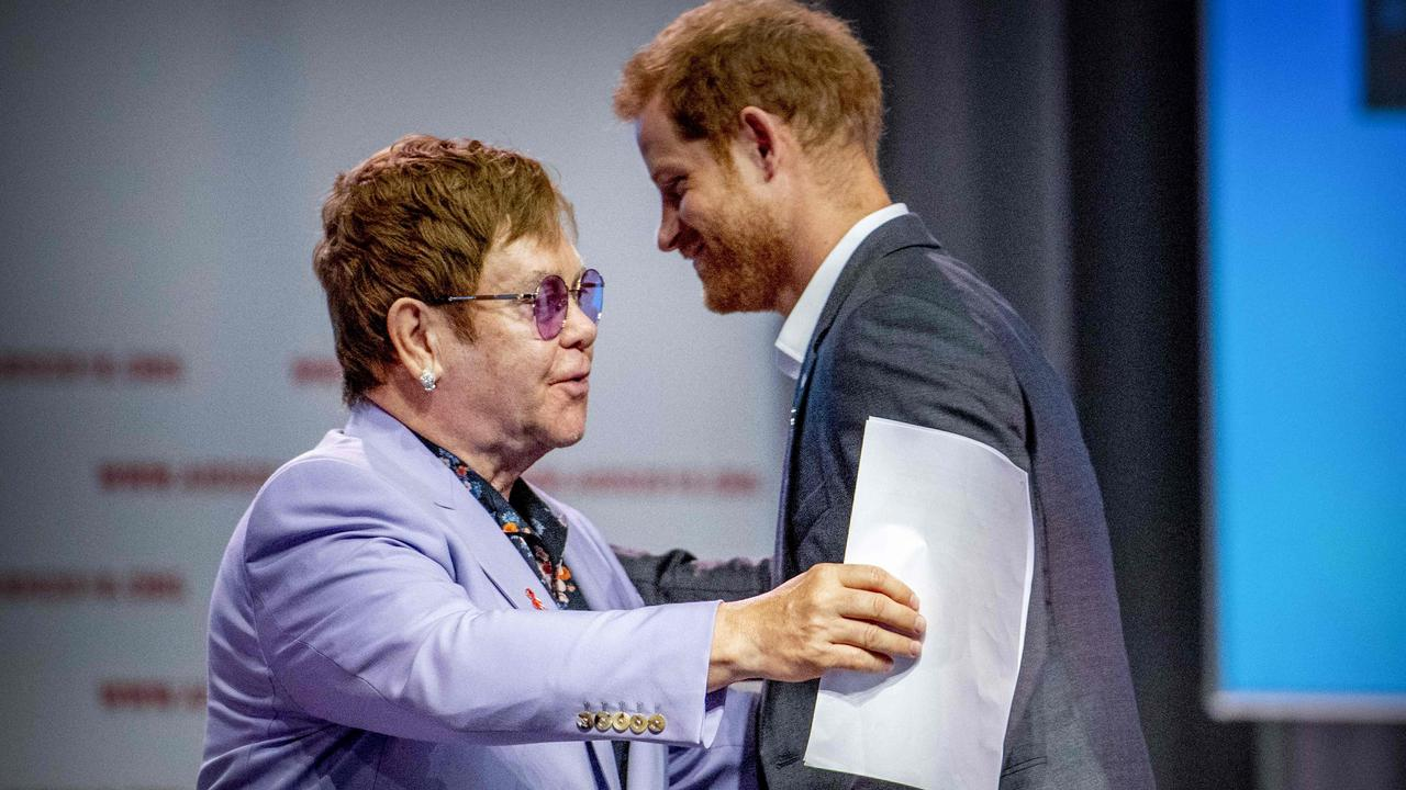 Prince Harry and Sir Elton John have long been close friends. Picture: AFP.