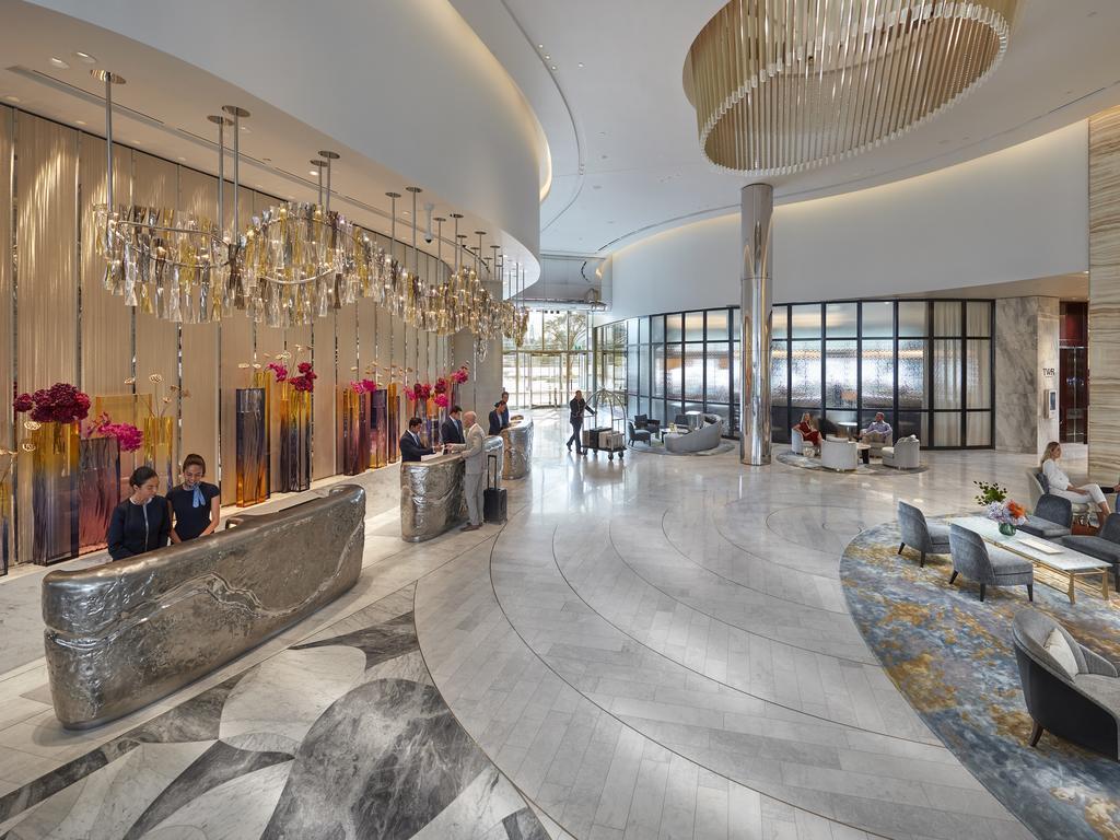 Crown Sydney's impressive foyer. Picture: James D Morgan/Getty Images
