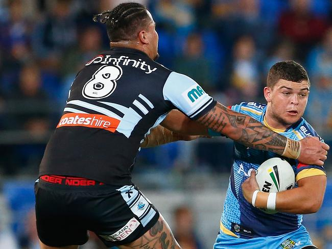 Ashley Taylor enjoyed a wonderful season for the Titans. Picture: Getty Images