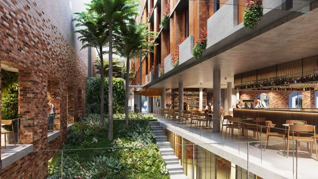 Inside, the hotel will boast a central courtyard in the middle of the hotel (used to host live events), 105 guestrooms, café offerings, a state-of-art fitness centre, and extensive conference facilities. Picture: Artist Impression © Accor