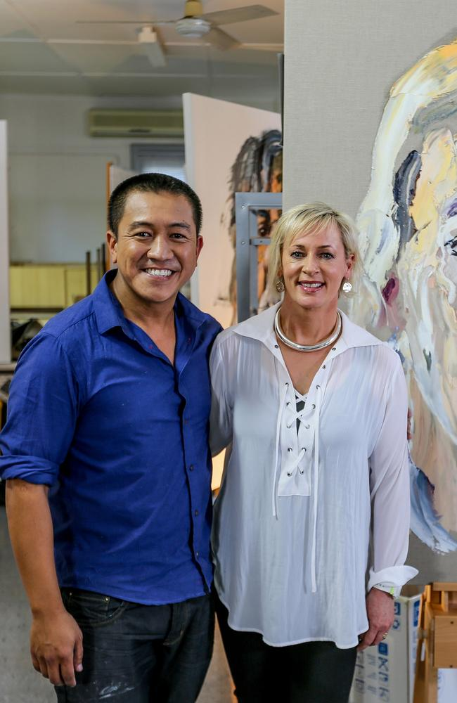 Anh Do's Brush With Fame featured radio and TV host Amanda Keller and outrated the commercial network's reality programs. Picture: Supplied