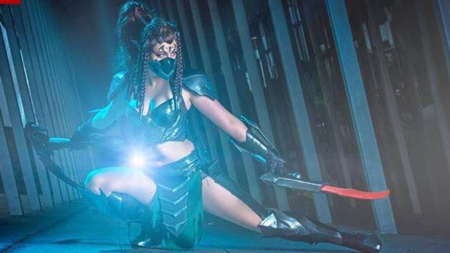 Jimmy Lee / Catroulette as Headhunter Akali from League of Legends. Picture: Leigh Hyland / Steamkittens