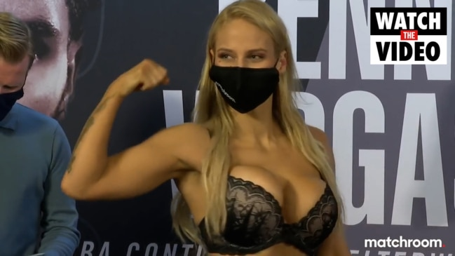 "Aussie fighter Ebanie Bridges' ""sexy lingerie"" weigh-in"