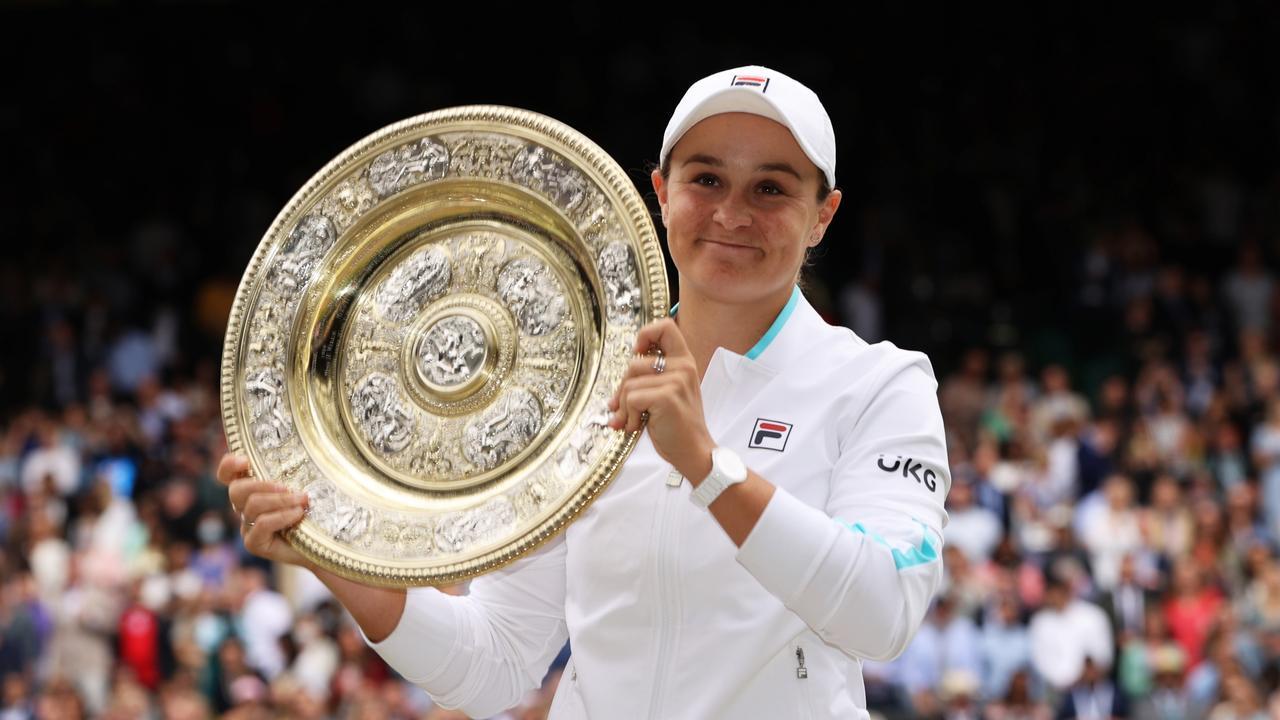 Winning Wimbledon took a lot out of Barty.