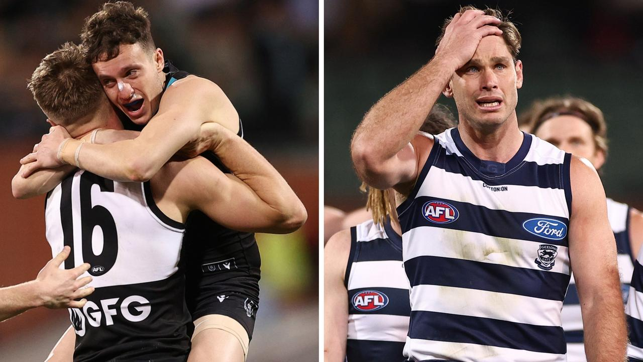 Port Adelaide's intense pressure gave Geelong fits all night, and set up another home preliminary final.
