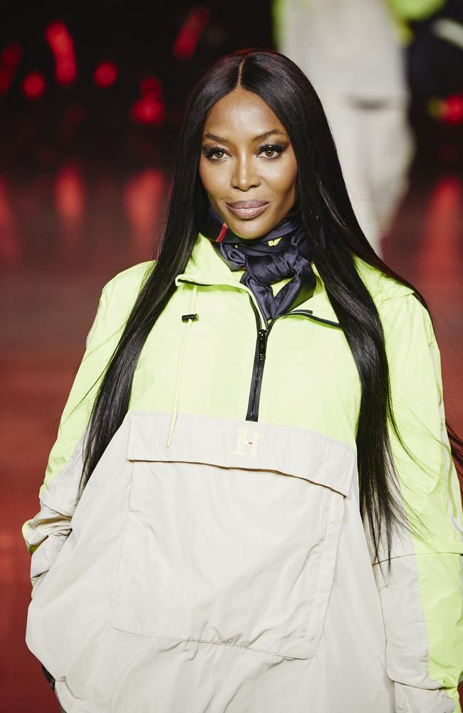 OG supermodel Naomi Campbell walked for Tommy Hilfiger's runway show at Tate Modern. Picture: Getty Images for Tommy Hilfiger