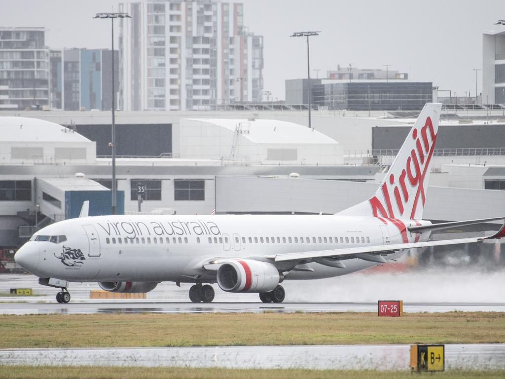A Virgin Australia flight crew member has tested positive to Covid-19. Picture: NCA NewsWire/James Gourley