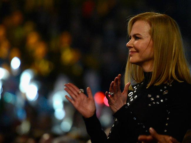 In the audience ... Nicole Kidman at the Grammy Awards. Picture: Kevork Djansezian/Getty Images
