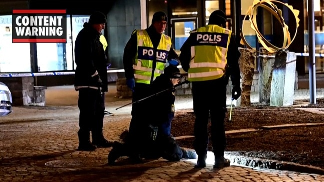 Aftermath of suspected terror attack in Sweden