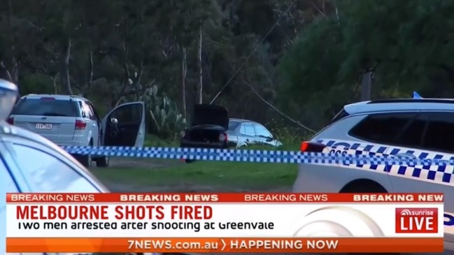 Police shoot man, arrest two, after van rammed in Greenvale, Melbourne (7 News)