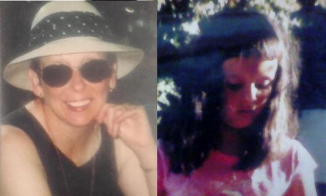 Loren's mum (left) and Loren as a child (right).