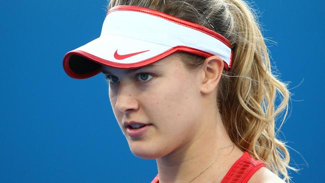 Eugenie Bouchard needs a new wardrobe. Picture: Scott Barbour/Getty Images