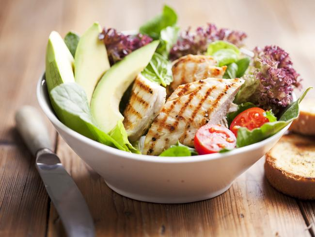 Don't be scared of avocado. A small serving, plus a protein like chicken will keep you fuller for longer.