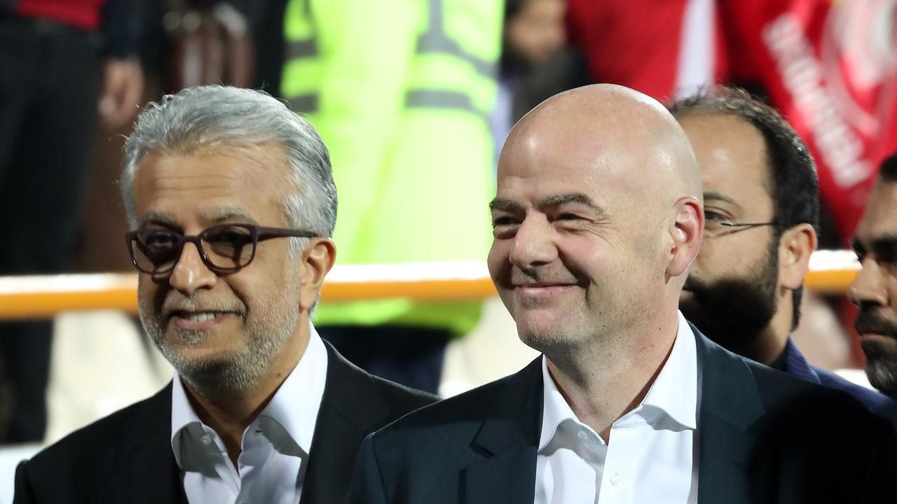 Gianni Infantino President of FIFA and AFC chief Sheikh Salman