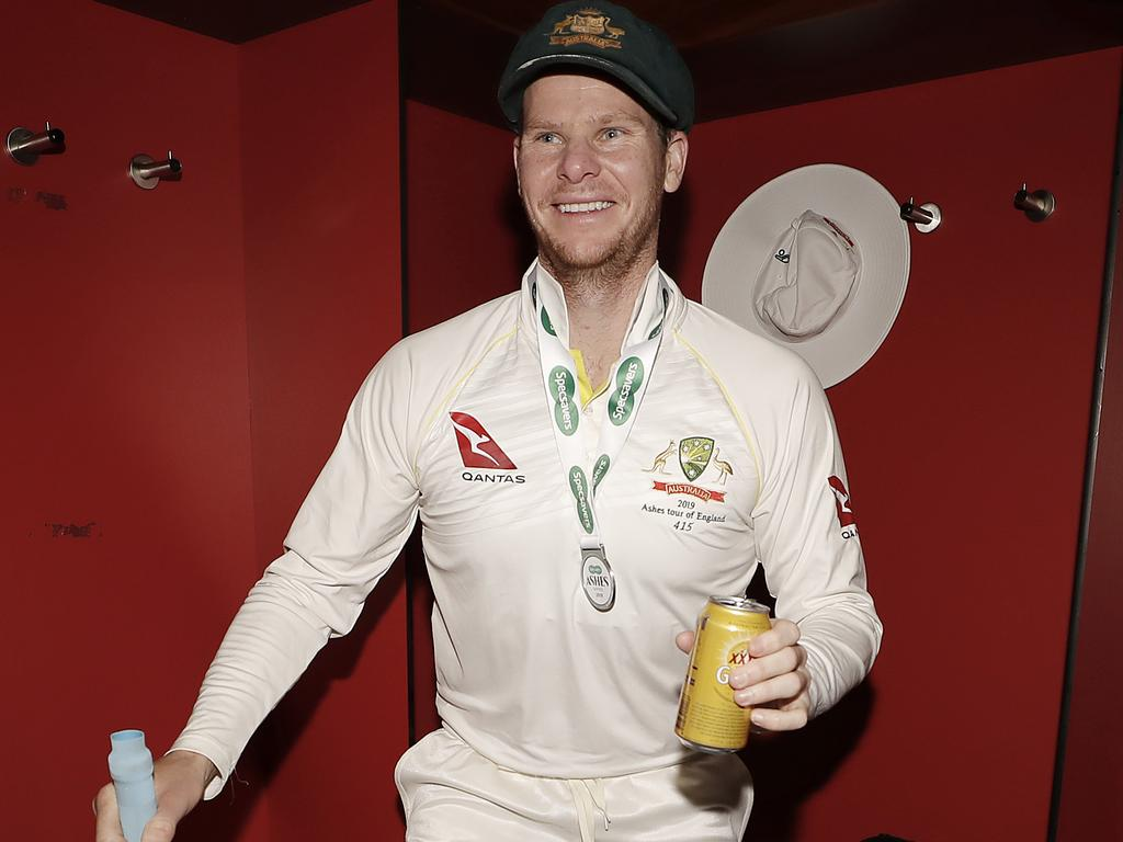 You just know Steve Smith wanted to go practice in the nets rather than celebrate his historic achievements.