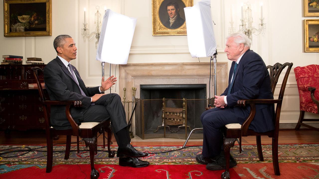 Supplied Entertainment David Attenborough meets President Barack Obama, Foreign Correspondent, ABC