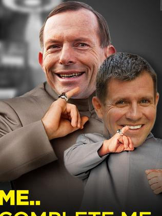 Image posted on NSW Labor's Facebook page. Lampooning Tony Abbott and Mike Baird. Supplied