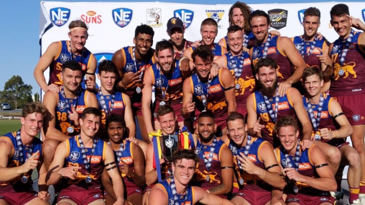 The perfect season: Lions' reserves make footy history with 20-0 year