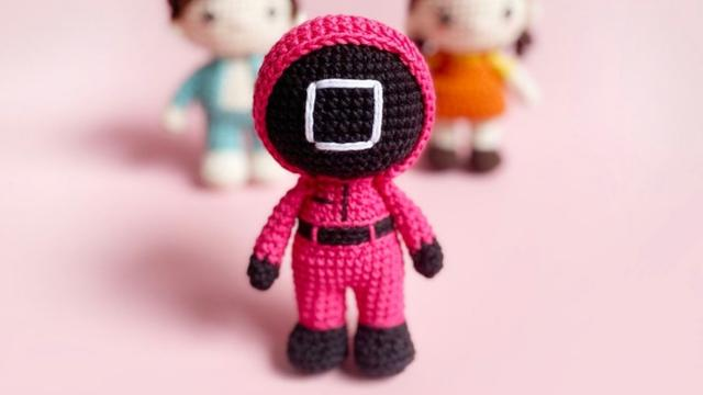 Squid Game crochet patterns are a thing and now we need to learn to stitch
