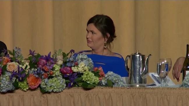 Sarah Huckabee Sanders mocked at Washington dinner
