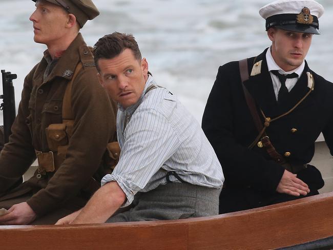 Drama and reality ... Sam Worthington filming  Deadline Gallipoli. Picture Dylan Coker.