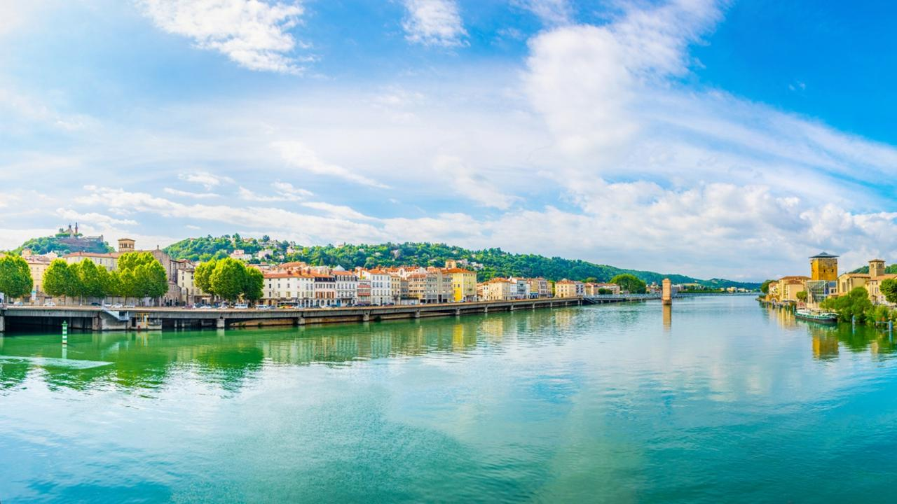 You can see how the blues and greens inspired artists by the Rhone river in Vienne, France.