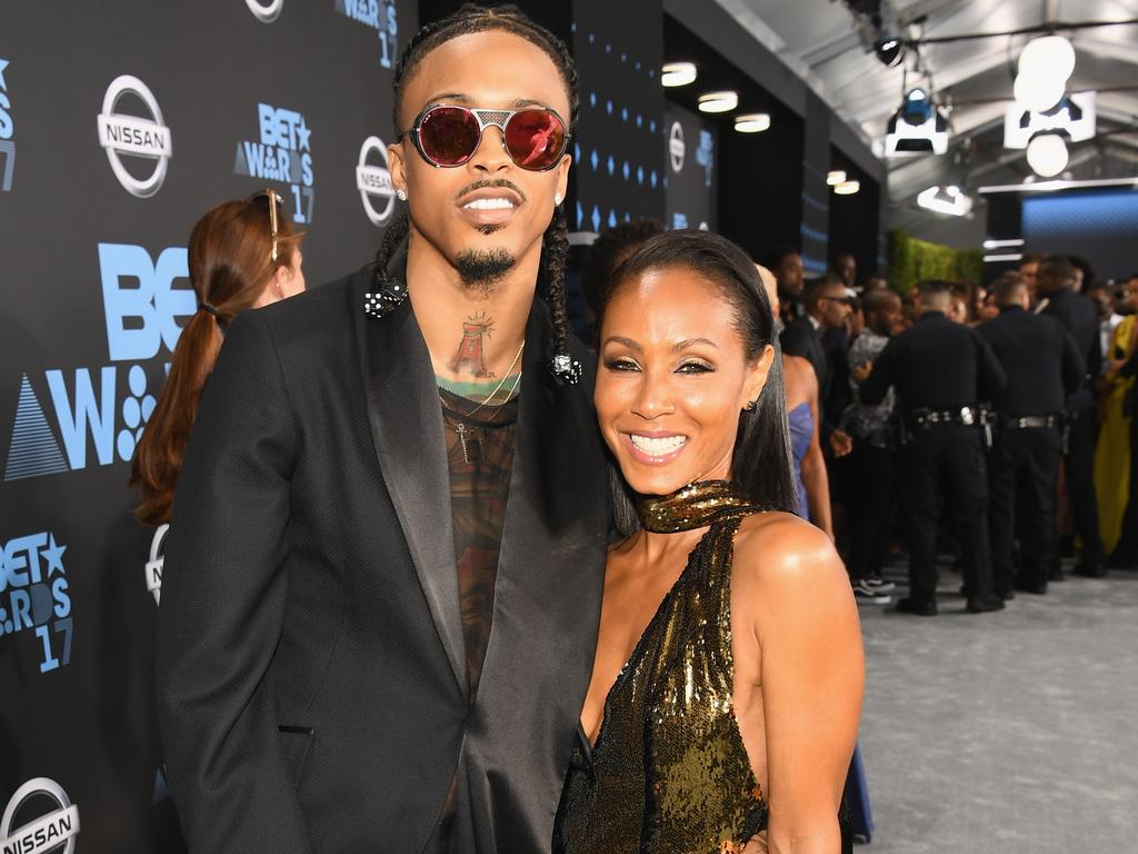 August Alsina and Jada Pinkett Smith at the 2017 BET Awards in LA. Picture: Paras Griffin/Getty Images