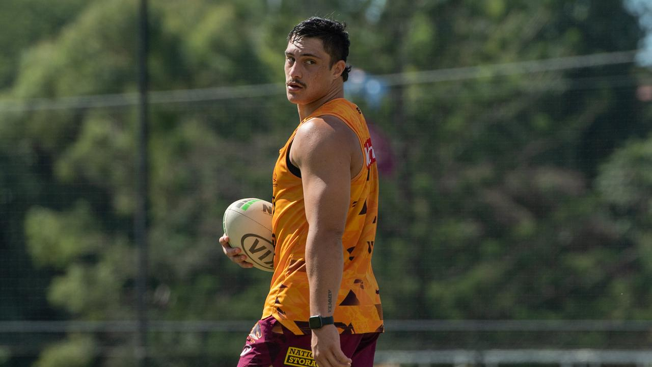 The NRL integrity unit is investigating Broncos star Kotoni Staggs. Picture: Brad Fleet