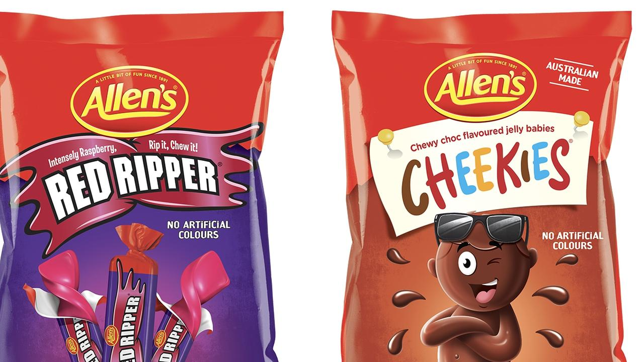 Nestle has announced Allen's Red Skins will be known as Red Ripper and Chicos will become Cheekies. Picture: Supplied via NCA NewsWire