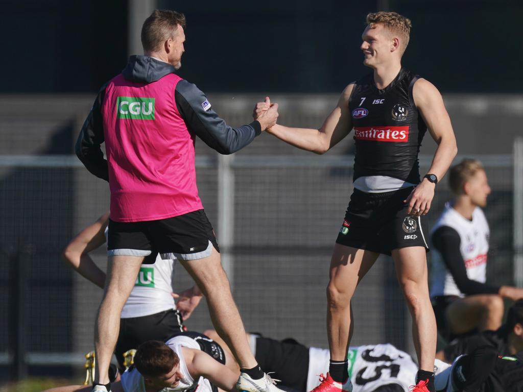 """Buckley admitted his relationship with Treloar is now """"strained""""."""
