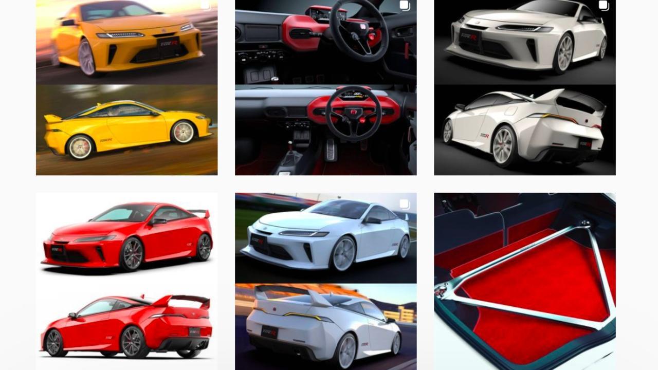 Honda Integra Type R impressions by Jordan Rubinstein-Towler. Picture: Instagram
