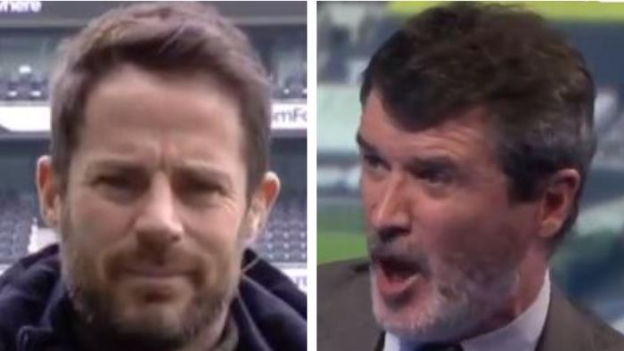 Roy Keane and Jamie Redknapp went head-on.