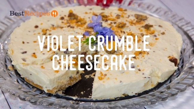 How to make violet crumble cheesecake