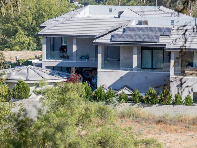 Police were called to Chris Brown's house in Los Angeles. Picture: Splash News