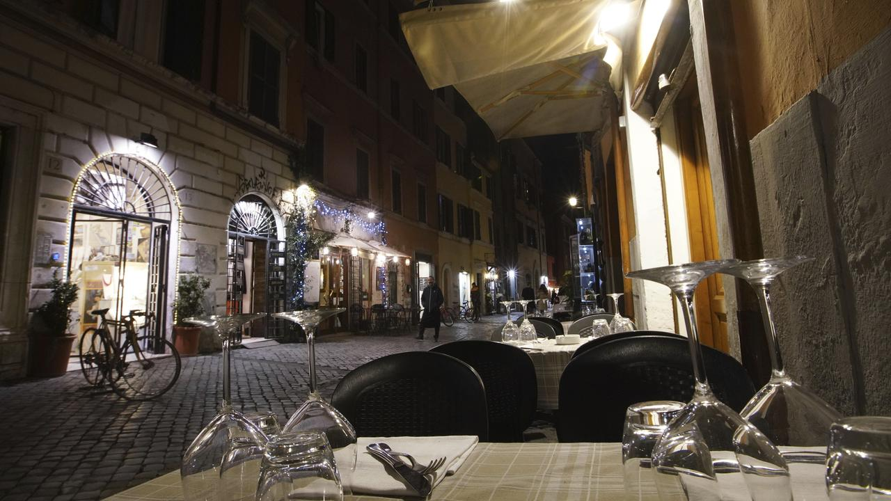 The usually bustling streets of Rome, Italy, have been emptied as virus fears escalate. Picture: AP Photo/Andrew Medichini