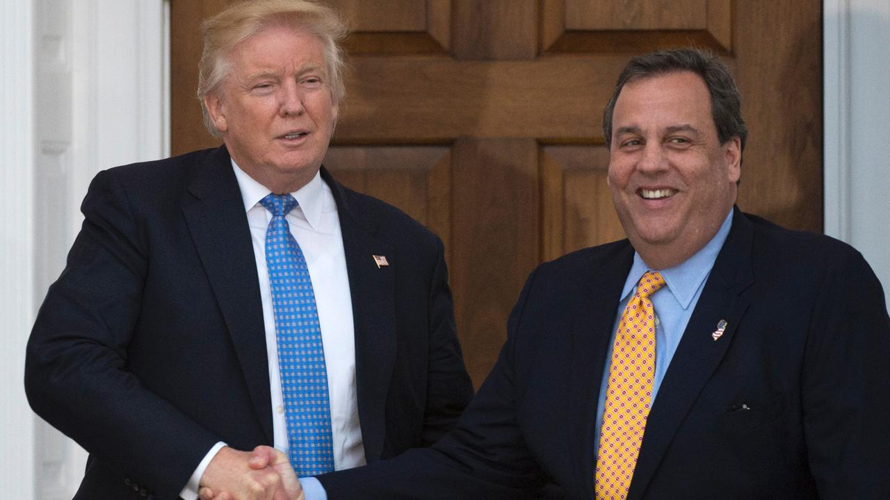 Donald Trump and Chris Christie in 2016. Picture: Don Emmert/AFP