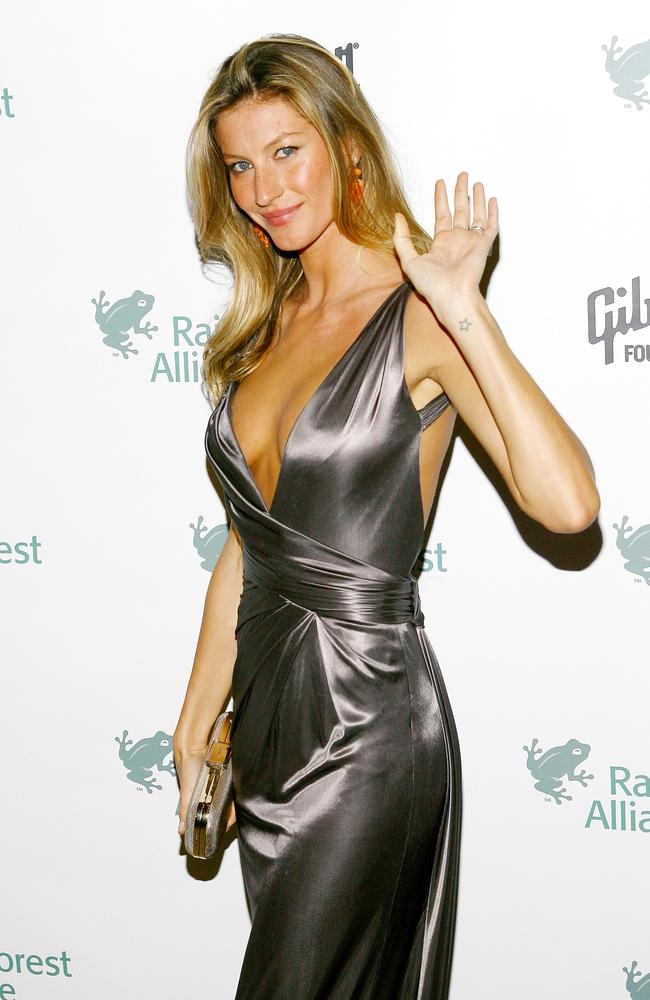 Model Gisele Bündchen at the 2009 Rainforest Alliance gala in New York City. Picture: Scott Wintrow/Getty Images
