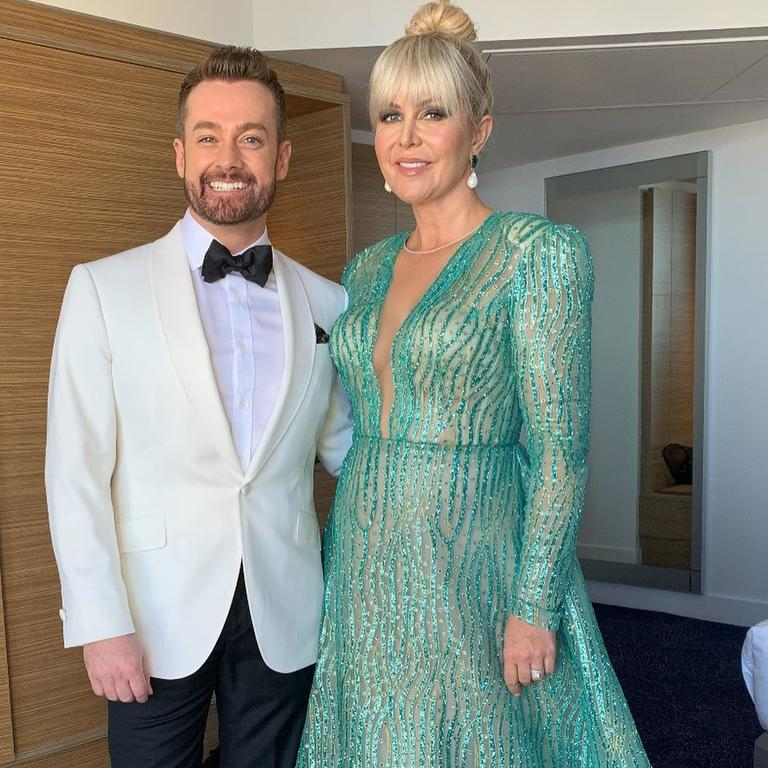 Grant and Chezzi Denyer at the Logies last year.