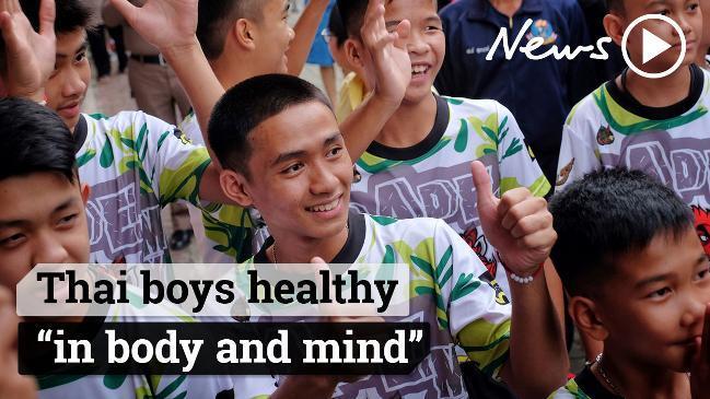 Thai boys reunited with their families