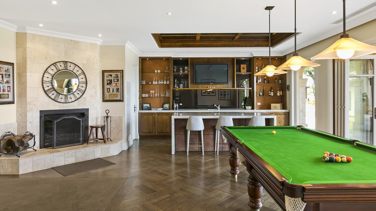 A billiards room is part of the package.