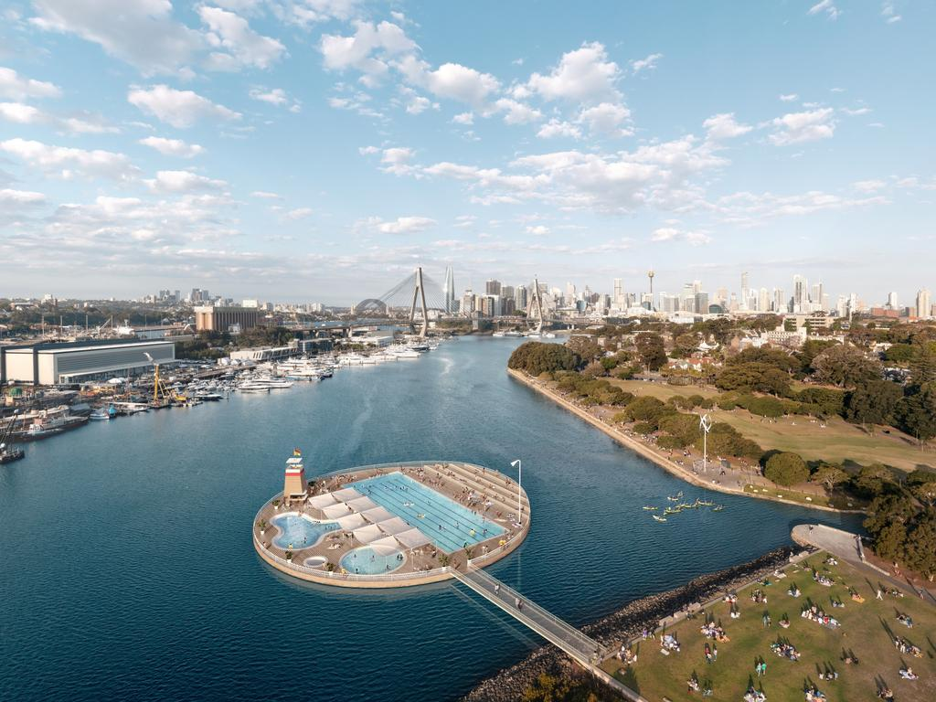 A visual representation of what's possible at Sydney Harbour. Photos: Andrew Burges Architects for the City of Sydney. Supplied image