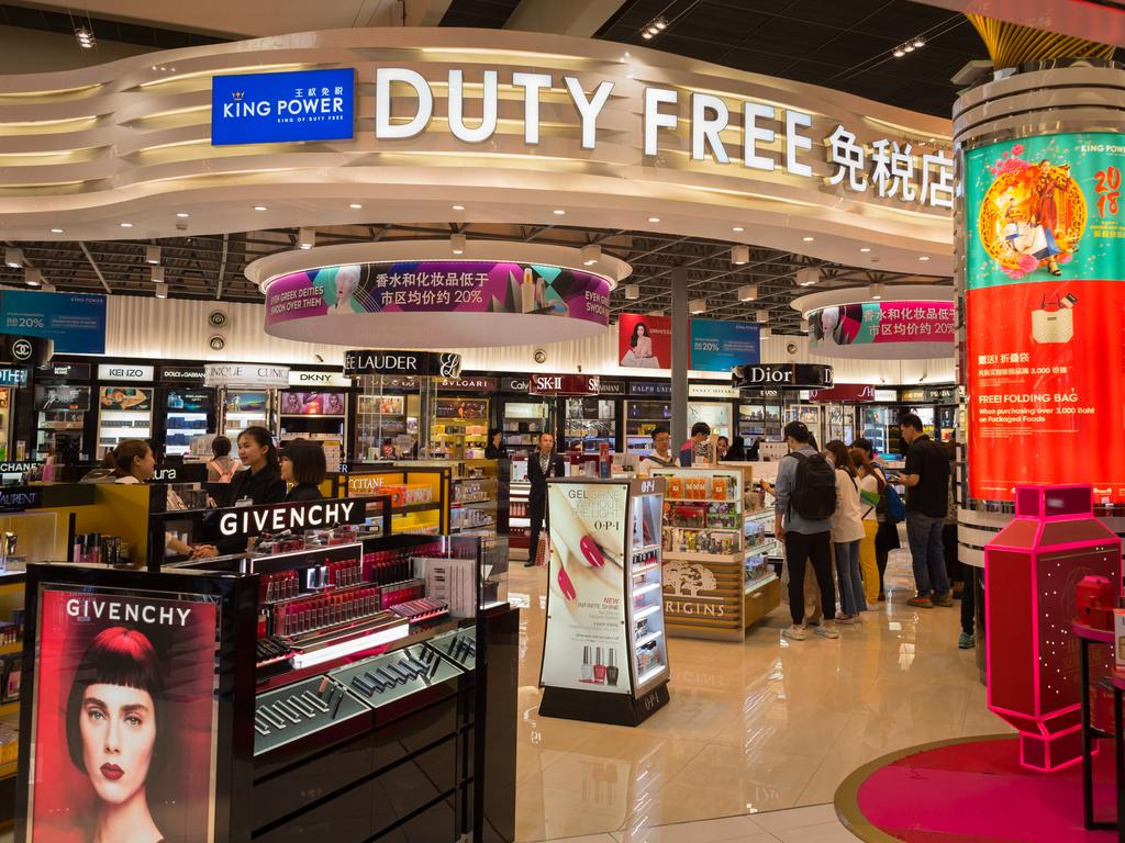 Duty-free shoppers can save on make-up and skin care.