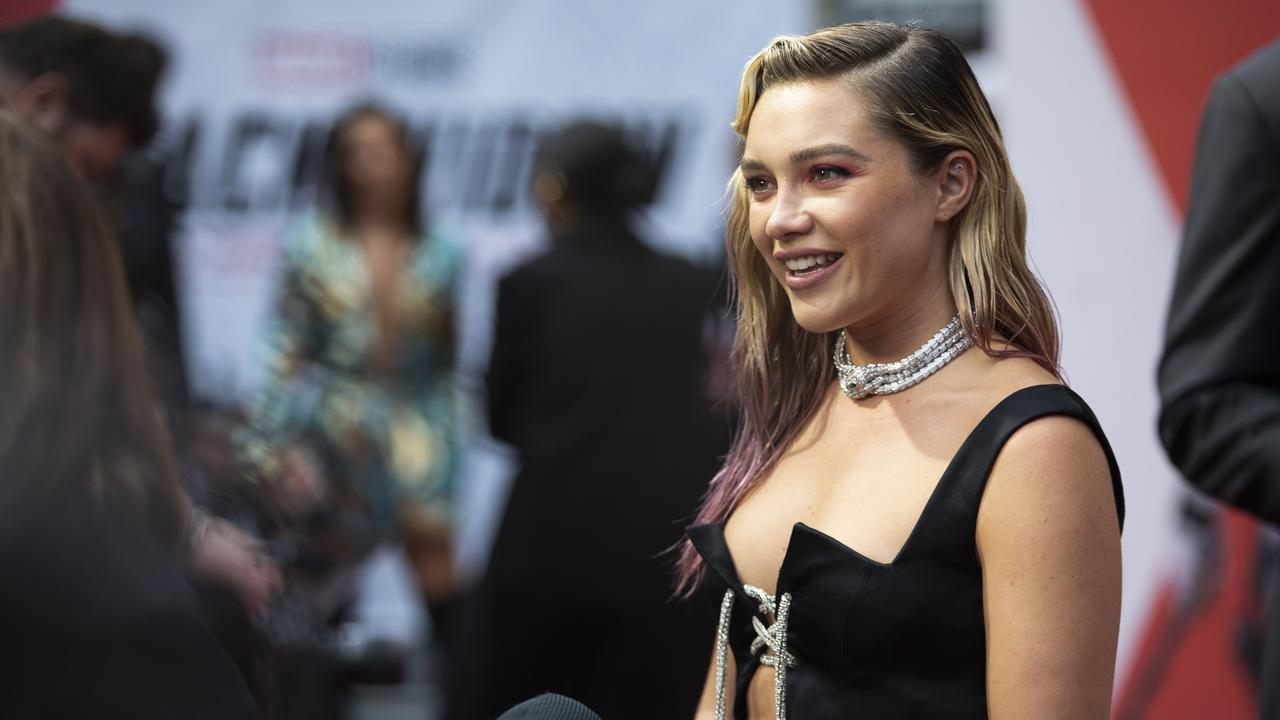 Florence Pugh at the London premiere of Black Widow.