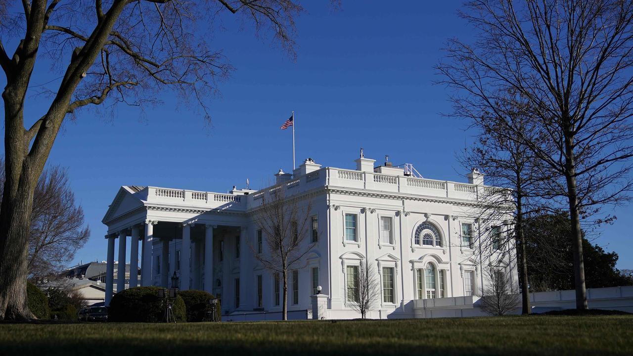 The White House on Mr Trump's last full day in office, on January 19. Picture: Mandel Ngan/AFP
