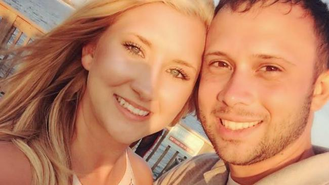 Devan Merck, pictured with husband Trent, was born without a vagina.