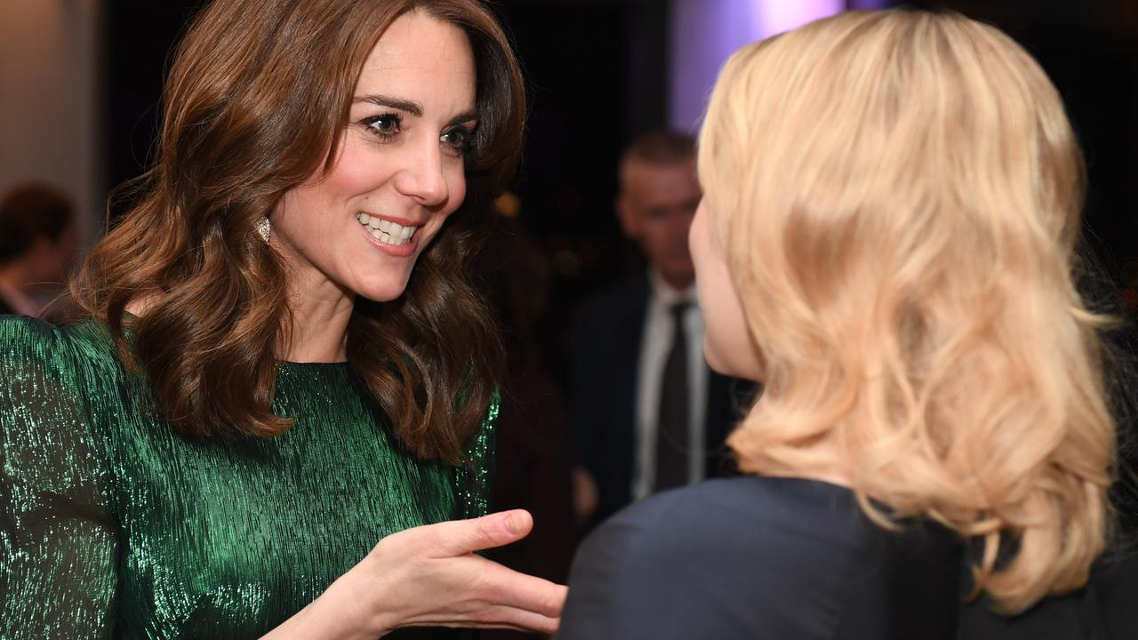 Meanwhile in Dublin, the Duchess of Cambridge gladly shook hands sans-protection. Picture: Getty Images.
