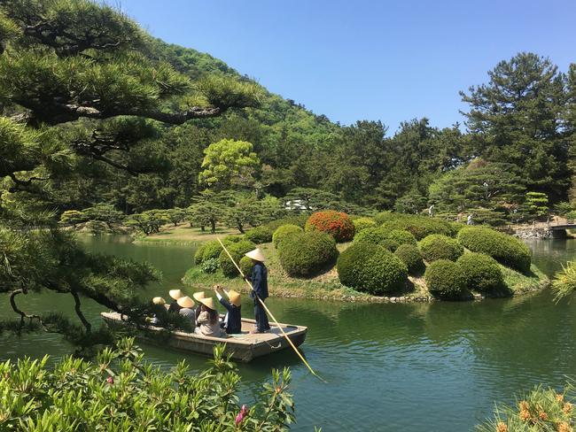 Ritsurin garden in Takamatsu, on Japan's Shikoku Island. The garden is considered one of the most beautiful in Japan. Photo: AAP Image/ Belinda Merhab